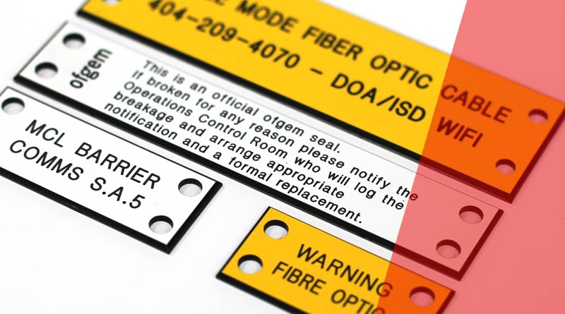 Engraved Traffolyte Network Cable Labels and Tags