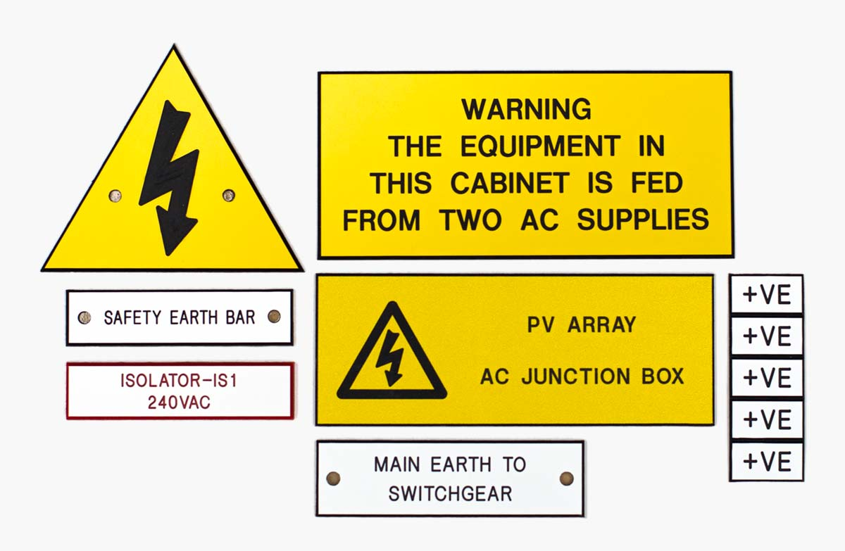 Image of traffolyte electrical safety signs